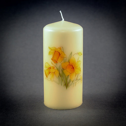 Daffodil Pillar Candle