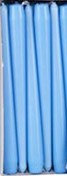 "Light blue 10"" (25cm) taper  (Pack of 6)"