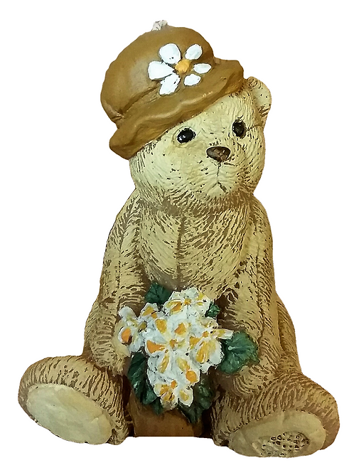 Shabby Chic Hattie Bear Candle