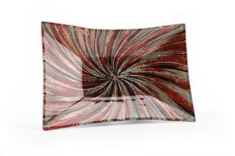Candy Swirl Glass Plate