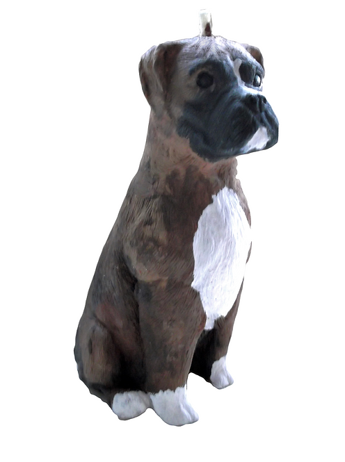Boxer Dog Candle