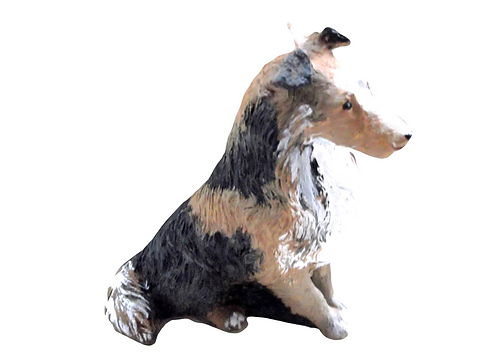 Rough Collie Candle
