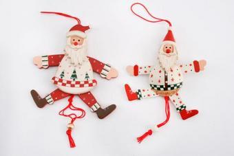 Santa Jumping Jack Tree Decoration