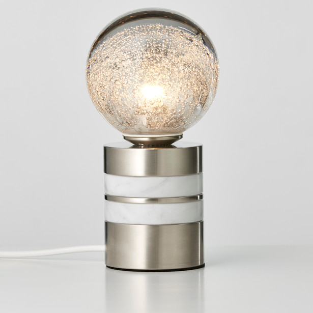 Tall Satin Nickel + Marble
