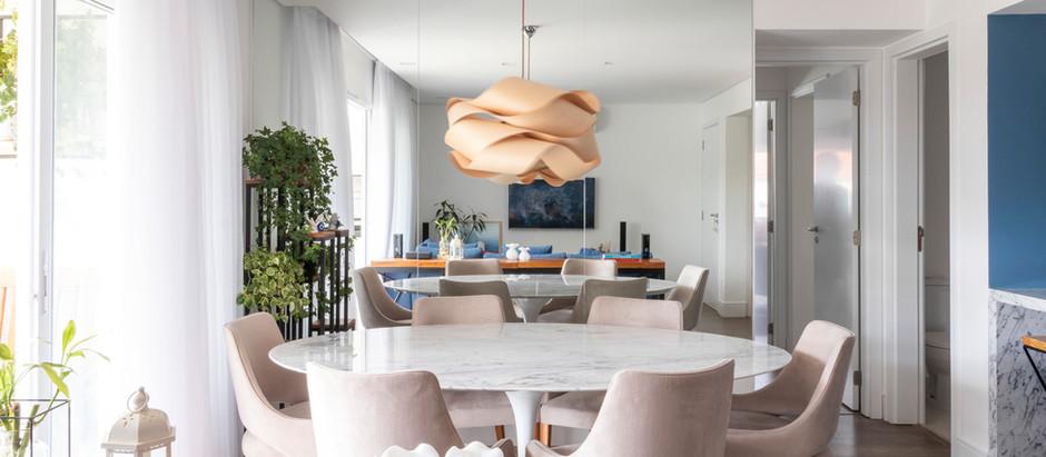 Apartamento de 115m² tem atmosfera clean e com personalidade