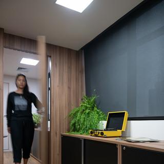 Porta Sala Reunião Aberta