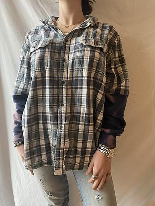 Winter '21 Flannel   Acid Washed Sweatshirt Sleeves   Large