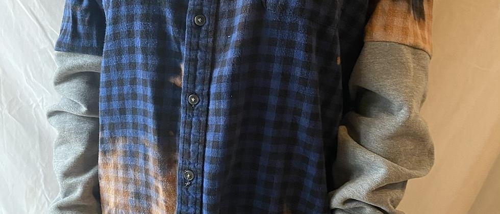 Winter '21 Acid Washed Flannel | Sweatshirt Sleeves | Large