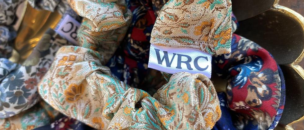 WRC Silk Necktie Scrunchies