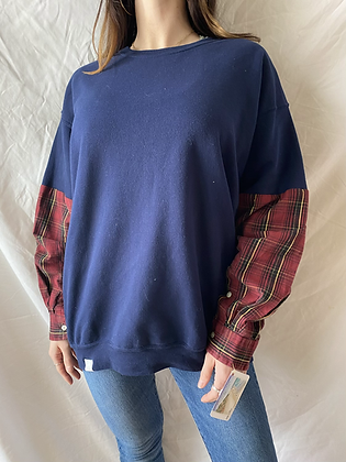 Winter '21 Sweatshirt | Plaid Sleeves | Large