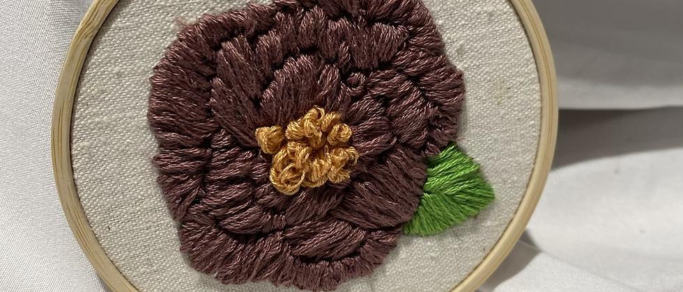 Copy Winter '21 Floral Embroidery Art   Vintage Textile Scraps