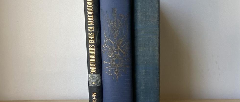 Vintage Decorative Books   Set of 3