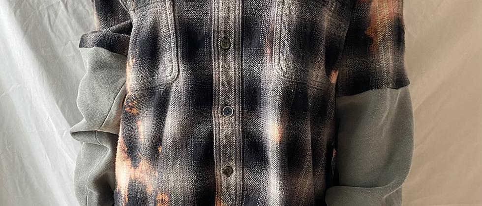 Winter '21 Acid Washed Flannel   Sweatshirt Sleeves   Large