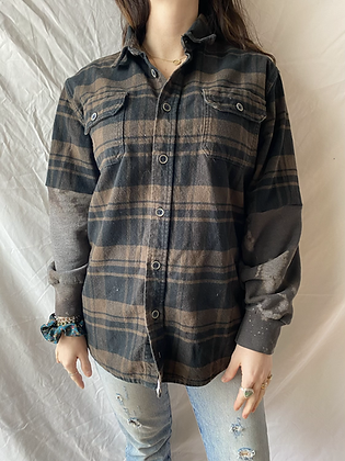 Winter '21 Flannel | Acid Washed Sweatshirt Sleeves | Medium