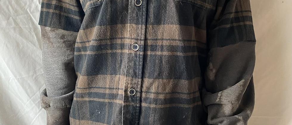 Winter '21 Flannel   Acid Washed Sweatshirt Sleeves   Medium