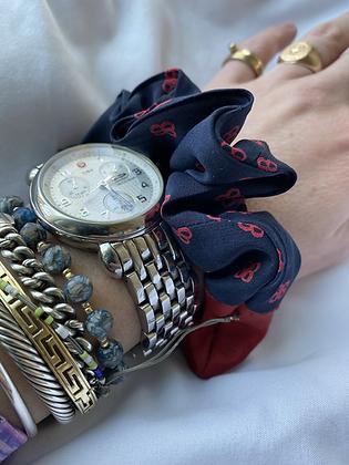Winter '21 Balenciaga Silk Necktie Scrunchie
