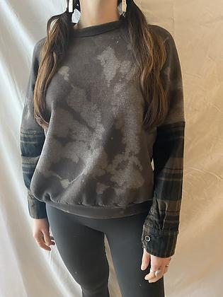 Winter '21 Acid Washed Sweatshirt | Flannel Sleeves | Small