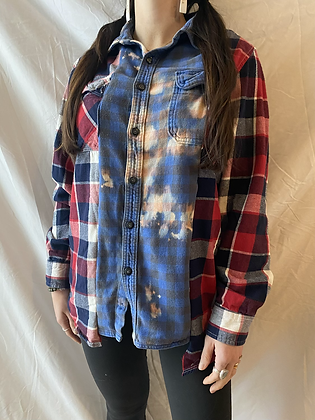 Winter '21 Mismatched Acid Washed Flannel | Small
