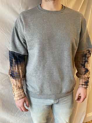 Winter '21 Sweatshirt   Acid Washed Flannel Sleeves   Medium