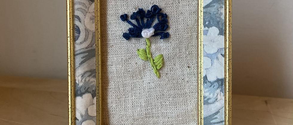 Spring '21 Floral Embroidery Art | Vintage Frame