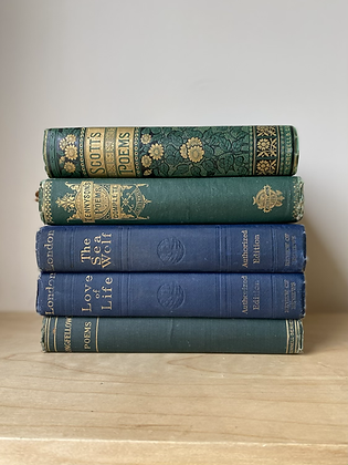 Vintage Decorative Books | Set of 5
