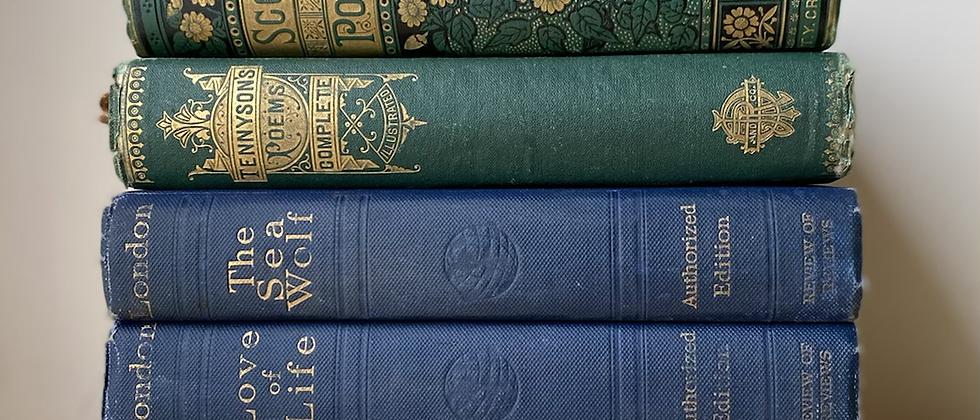 Vintage Decorative Books   Set of 5
