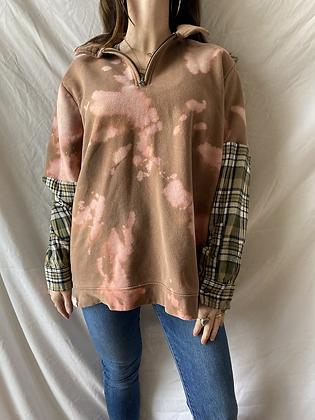 Winter '21 Acid Washed Sweatshirt | Flannel Sleeves | Large
