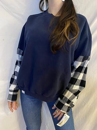 Winter '21 Sweatshirt | Flannel Sleeves | Large