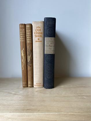 Vintage Decorative Books   Set of 4