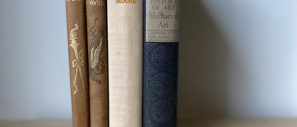 Vintage Decorative Books | Set of 4