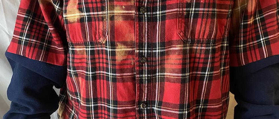 Winter '21 Acid Washed Flannel | Sweatshirt Sleeves | ONE SIZE