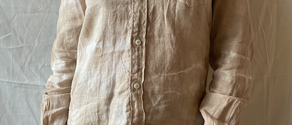 Spring '21 Seaweed Dyed Linen Button Up | Small