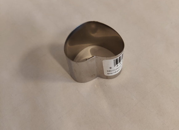 Udstikker – Rustfrit stål, mini hjerte, 3cm