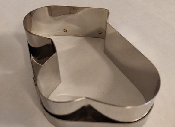Udstikker – Rustfrit stål, sammenflettede hjerter, 10x5cm