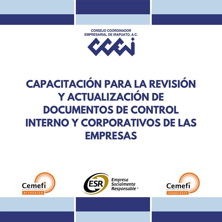 Actualización de Control Interno y Corporativos de las Empresas