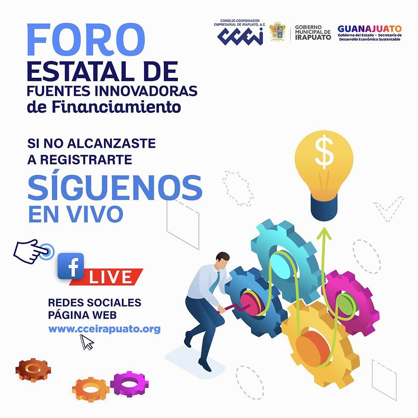 Foro Estatal de Fuentes Innovadoras de Financiamiento