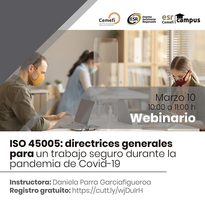 ISO 45005: directrices generales para una trabajo seguro durante la pandemia de Covid-19