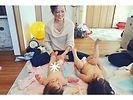 _._._今日は、3組の親子さんと_ベビーマッサージ_ おうち教室でした♡_._