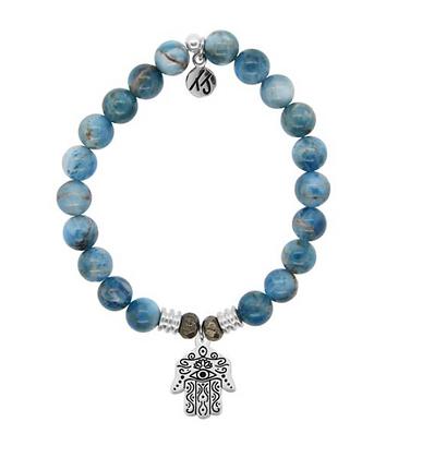 Arctic Apatite Bracelet with Hand of God Charm