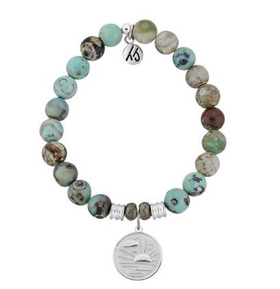 Turquoise Jasper Bracelet with New Day Charm