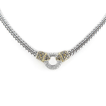 Pavé Circle Double Strand Necklace