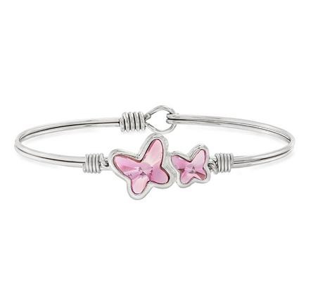 Butterflies Bracelet in Light Rose