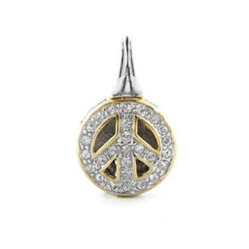 JM Peace Sign Slider Charm