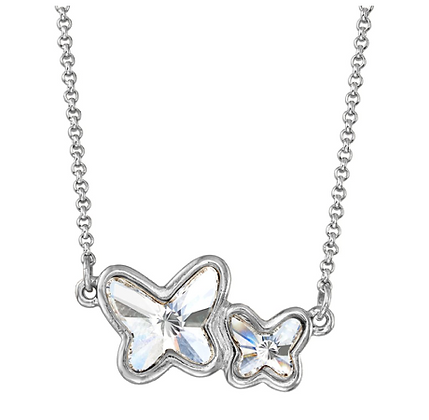 Luca and Danni Butterflies Necklace Crystal