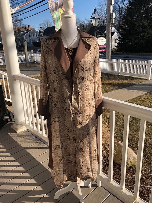 Belted Snakeskin Sheer Kimono