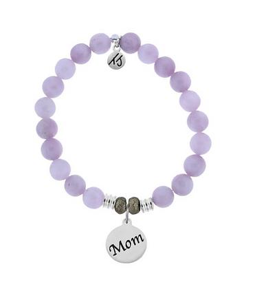 Kunzite Bracelet with Endless Love Mom Charm