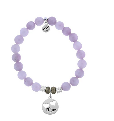 Kunzite Bracelet with Mom Charm