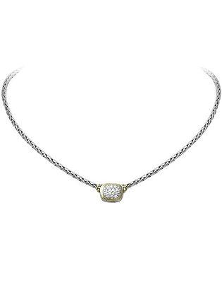 Nouveau CZ Single Strand Necklace