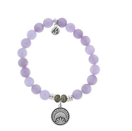 Kunzite Bracelet with Rise Above Charm