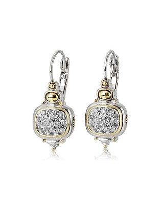 Nouveau CZ French Wire Earrings